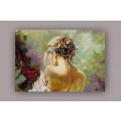 Tablou dualview DTB0816 Spate de femeie, canvas, stil clasic, 60 x 90 cm