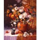 Tablou decor Canbox CB4050/00003, inramat, panza bumbac + rama MDF, stil floral, 40 x 50 cm