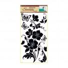 Sticker flori si fluturi 60x30 cm 1042