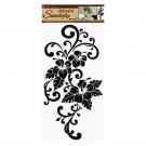 Sticker perete flori negre 60x32 cm 546