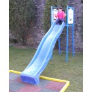 Tobogan copii, cu scara, structura metalica, 320 x 80 x 226 cm