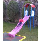 Tobogan copii, cu scara, structura metalica, 320 x 80 x 291 cm
