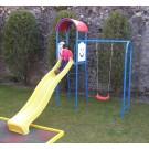 Tobogan copii, cu leagan si scara, structura metalica, 320 x 230 x 291 cm
