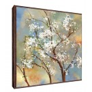 Tablou decor Canbox CB00233, inramat, panza canvas + rama MDF, stil floral, 60 x 60 cm