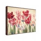 Tablou decor Canbox CB00361, inramat, panza canvas + rama MDF, stil floral, 50 x 70 cm