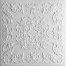 Tavan fals decorativ din polistiren C2061 clasic alb 50 x 50 x 0.3 cm
