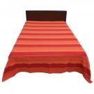 Cuvertura de pat Caressa, 26433, bumbac, rosu, 220 x 240 cm