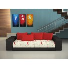 Canapea extensibila 3 locuri Lisa, cu lada, Lara14 + Bra4 + Sav13, 91 x 250 x 70 cm 1C