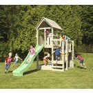 Tobogan copii, cu spatiu de joaca, Penthouse AP.01, structura lemn, 380 x 175 x 295 cm