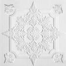Tavan fals decorativ din polistiren C2056 clasic alb 50 x 50 x 0.3 cm