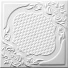 Tavan fals decorativ din polistiren C2067 clasic alb 50 x 50 x 0.3 cm