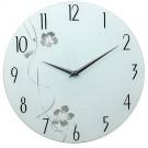 Ceas perete G1113A1.WE, analog, rotund, din sticla, diametru 33 cm