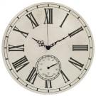 Ceas perete M11TH06C6.S, analog, rotund, din MDF, cu termometru, diametru 33 cm