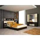 Dulap D4 dormitor Altea sonoma dark + crem lucios 4C
