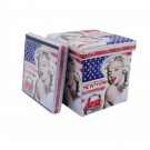 Cub pliabil imprimeu Marilyn Monroe 38x38x38 cm