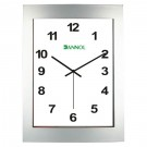 Ceas perete DN0304S.NL, analog, dreptunghiular, din plastic, 21.6 x 29 x 5.2 cm