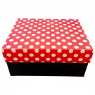Cutie depozitare/cadou D173, rosu + negru, 26.5 x 21.5 x 12.5 cm
