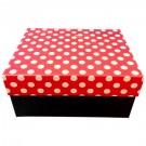 Cutie depozitare/cadou D173, rosu + negru, 14.5 x 9.5 x 6.5 cm