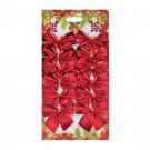 Fundite decorative Craciun, rosii, set 12 bucati, SY16HDJ-03