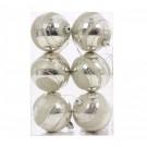 Globuri Craciun, argintii, D 7 cm, set 6 bucati, SY16CBA-291