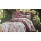 Lenjerie de pat, 2 persoane, Alicia, bumbac 100%, 4 piese, multicolor