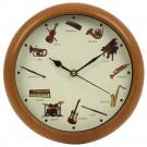 Ceas perete 3320, analog, rotund, din plastic, diametru 25 cm