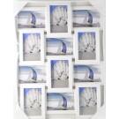 Rama foto, Family, colaj 12 poze, DZY169, alb + negru, plastic, 41 x 28.5 cm