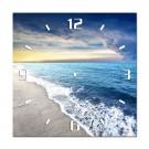 Tablou canvas cu ceas, TA14-PAC0128, stil peisaj, 40 x 40 cm