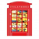 Sticker perete Minions cabina telefonica