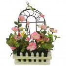 Floare artificiala, 1057030, roz + galben + rosu, 30 x 25 cm