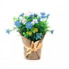 Floare artificiala, 392KUY, rosu + roz + albastru, 15 cm