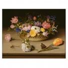 Tablou din panza, dreptunghiular, standard, PT1376, cu flori, 45 x 60 cm