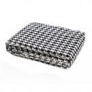 Cuvertura de pat, Caressa, SI373, bumbac, negru + alb, 180 x 240 cm