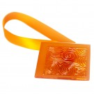 Magneti decorativi perdea Square, forma patrata, cu panglica de fixare, 5 x 5 x 0.01 cm, portocaliu