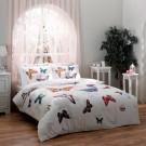 Lenjerie de pat, 2 persoane, Butterfly, bumbac 100%, 4 piese, multicolor