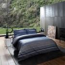 Lenjerie de pat, 2 persoane, Luxe Line, bumbac 100%, 4 piese, albastru + bleu