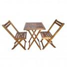 Set masa cu 2 scaune pentru gradina Bistro TGD1508T/1508C din lemn