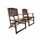 Set masa cu 2 scaune pentru gradina TGD 1511 din lemn