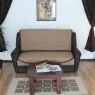 Canapea extensibila 2 locuri Bucur, cu lada, maro, 165 x 93 x 97 cm, 1C