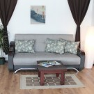 Canapea extensibila 3 locuri Florina, cu lada, gri, 225 x 105 x 99 cm, 2C