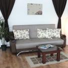 Canapea extensibila 3 locuri Florina, cu lada, Melo 3526, maro, 105 x 225 x 99 cm 2C