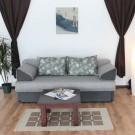 Canapea extensibila 3 locuri Rica, cu lada, gri, 100 x 195 x 76 cm 1C