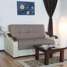 Canapea extensibila 2 locuri Melania S, cu lada, crem + maro, 102 x 163 x 99 cm 1C