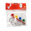 Sablon Craciun pentru pictura, 4 culori + 1 pensula, diverse modele