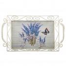 Tava dreptunghiulara decorativa 1720S, metal + MDF, multicolora, 33 x 20 x 9 cm