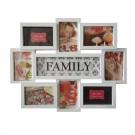 Rama foto, dreptunghiulara, LB-151, Family, alba, plastic + sticla + carton, 45 x 56 cm