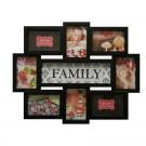 Rama foto, dreptunghiulara, LB-151, Family, neagra, plastic + sticla + carton, 45 x 56 cm
