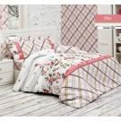 Lenjerie de pat, 2 persoane, Rita, bumbac 100%, 4 piese, multicolor