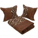 Cuvertura de pat, 03, poliester, maro +bej, 230 x 250 cm