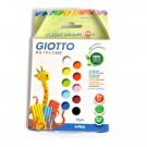 Set 10 culori plastilina Giotto Patplume, 10 x 20 g